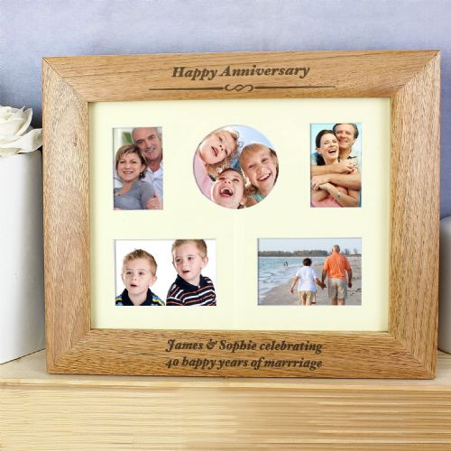 Anniversary Photo Frame Gift - Personalised With Any Message -Special Anniversary Gift Idea